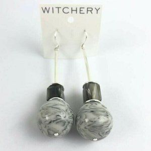 Witchery Jeanne Silver Earring 8cm Drop